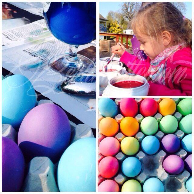 Eier färben mit Kindern zu Ostern - farbenfroher Spaß! | Berlinmittemom.com