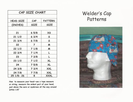 Welder s Cap Hat Pattern by valentine1955 on Etsy  cc5781f3eac