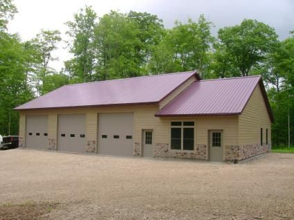 559 best images about garages on pinterest steel for Rv barn with living quarters