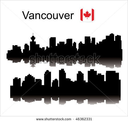 Detailed vector silhouette city. Vancouver. by Sera57, via ShutterStock