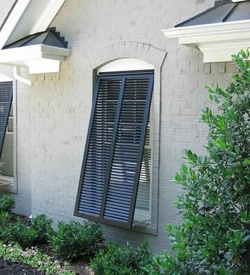 "This Impact Bermuda Shutter is built to finished dimensions of 34"" x 45"". The shutter will fit a window 28"" wide and 39"" high. Designed to meet the most string"