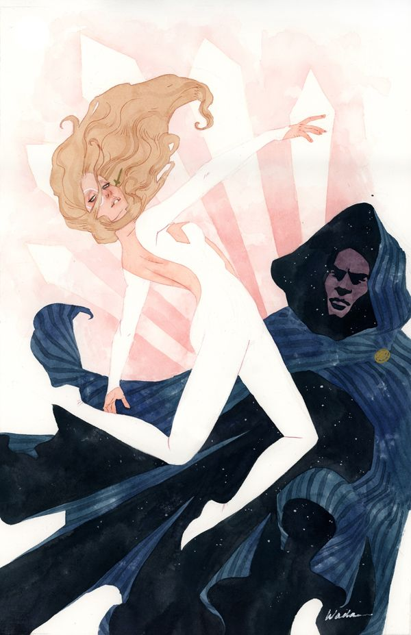 Cloak and Dagger -- comic book characters from a fashion illustration angle.