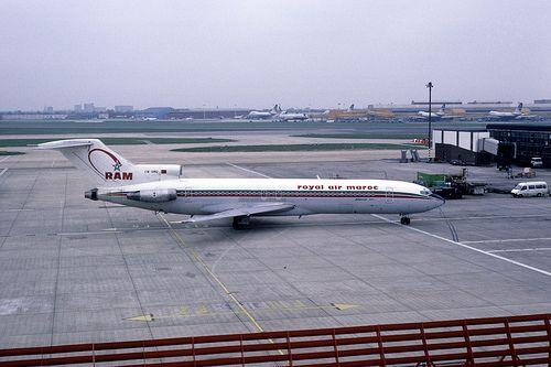 21299 Boeing 727: 727-2B6 CN-RMQ Royal Air Maroc Heathrow Airport
