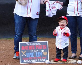 Image result for pregnancy announcements baseball