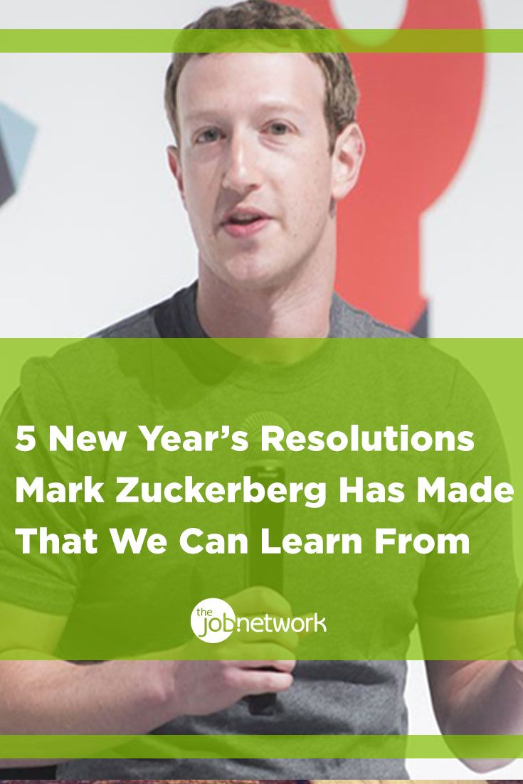 Mark Zuckberg is one successful guy. It stands to reason that we can learn a thing or two from his past New Year's resolutions.