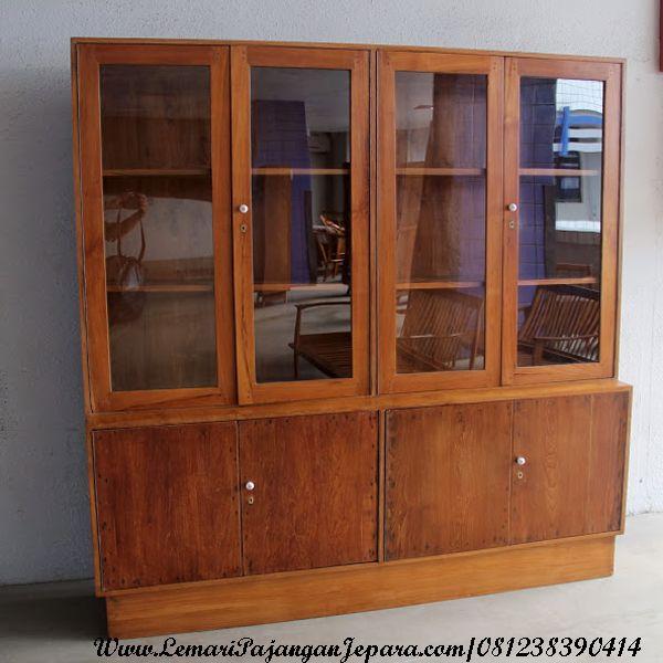 JualLemari Pajangan Minimalis Murah Kayu Jati merupakan Produk Mebel Jepara dengan desain Minimalis Pintu Kaca Minimalis dengan bahan baku Kayu Jati