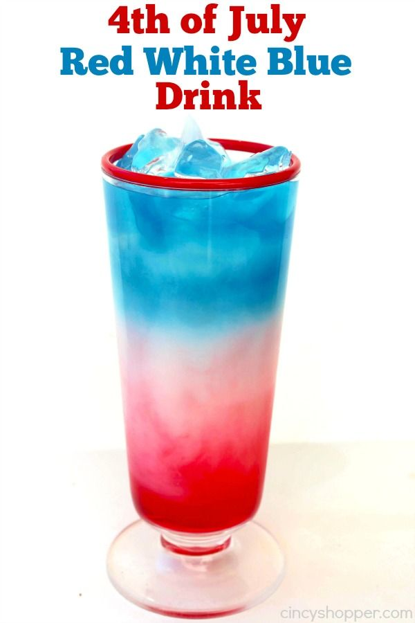 4th of july red white blue drink recipe red white blue