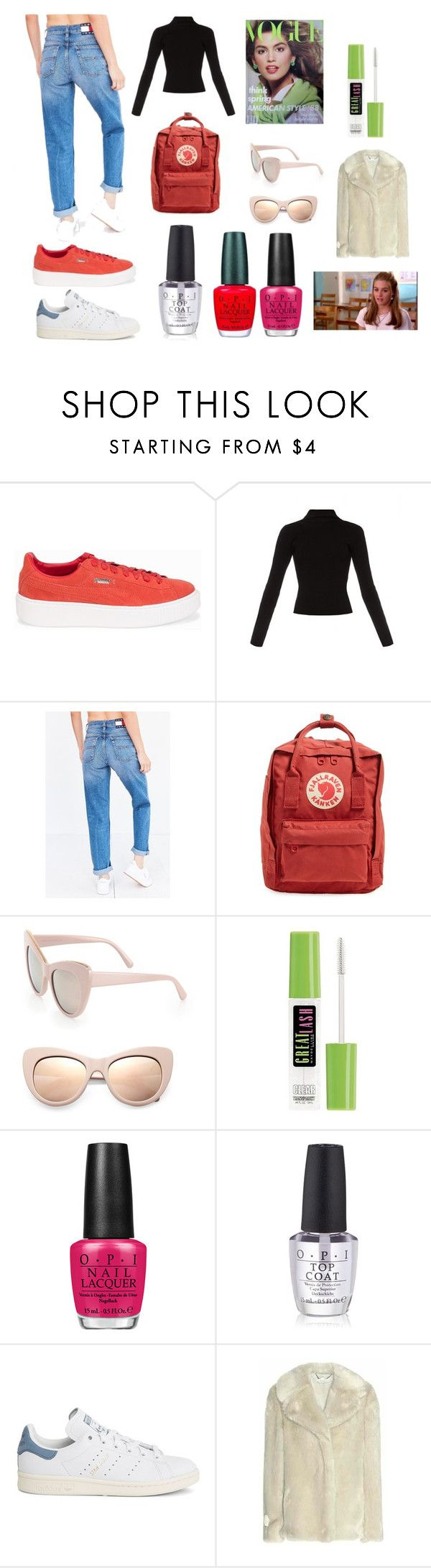"""""""back to school"""" by skybluepatricia on Polyvore featuring Puma, Haider Ackermann, Tommy Hilfiger, Fjällräven, STELLA McCARTNEY, SilverStone, Maybelline, OPI and adidas"""
