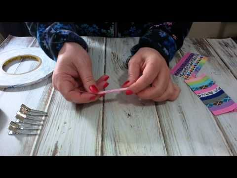 How to ribbon line hair clips using Triple Duty Double Sided Tape!