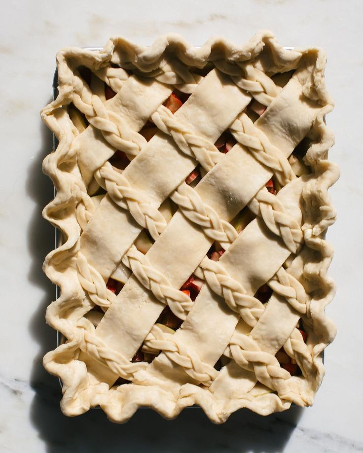 Braided Pastry Piecrust - See this Instagram photo by @acozykitchen