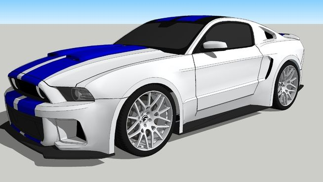 Mustang Shelby GT500 NFS Movie - 3D Warehouse