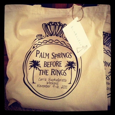 Palm Springs Before the Rings: A Bachelorette Party Tote!