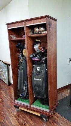 DIY Golf Locker from a single sheet of plywood - Free Plans | http://rogueengineer.com #GolfLocker #ManCaveDIYPlans