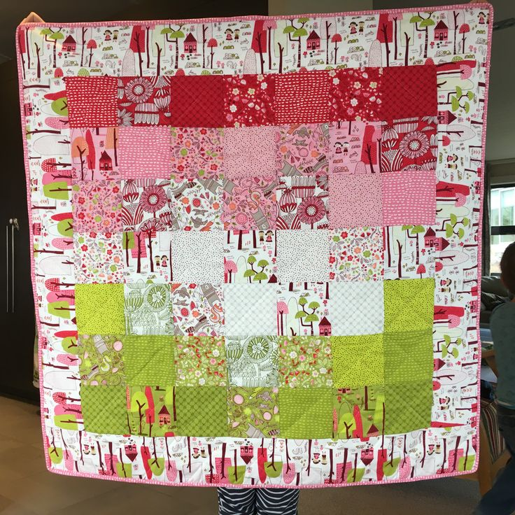 Stacey Iset Hsu Into the Woods quilt for baby Kate
