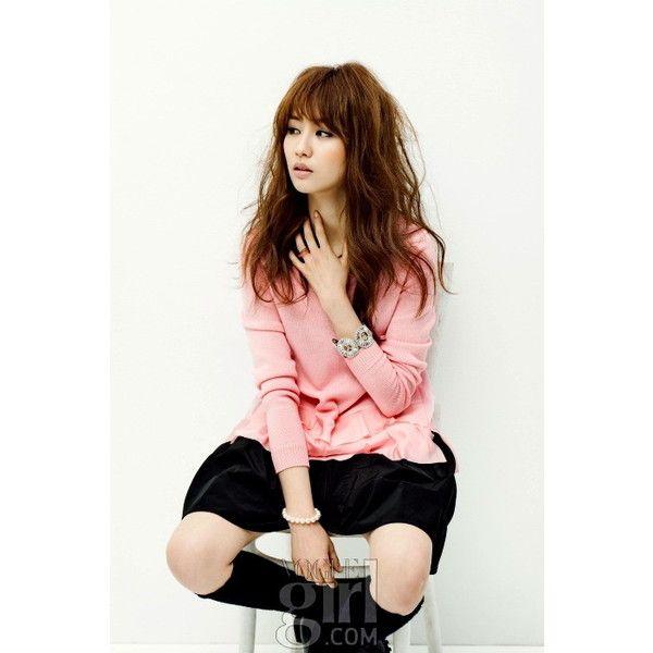 Park Ha Sun for VOGUE Girl Korea #rainie-minnie ❤ liked on Polyvore featuring people