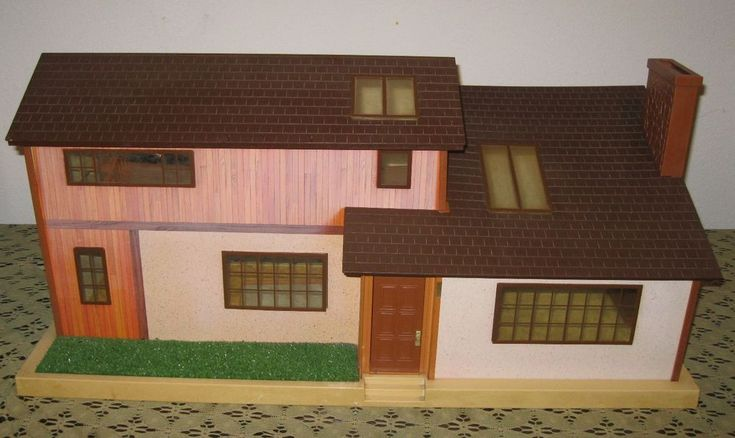 Vintage Tomy Smaller Homes Dollhouse Retro 1970s 1980s Doll House Miniature #TOMY