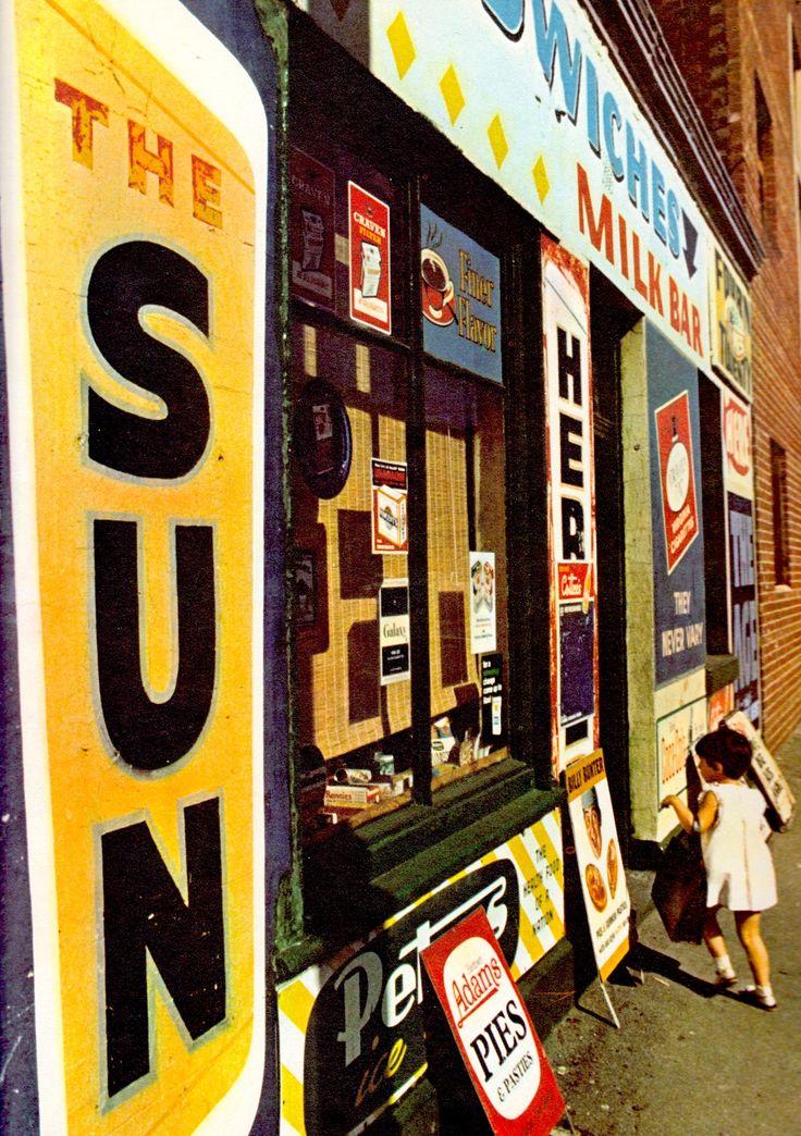 MELBOURNE MILK BAR William Street. 1960's. Photo (Detail) by Mark Strizic. Image from Graham Kennedy's Melboune 1967 (minkshmink on pinterest)