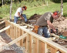 Instead of using stone or timbers, make an attractive, long-lasting retaining wall from pressure-treated 2x4s, plywood and trim boards. Construction is fast and simple, and the materials are much lighter to work with.
