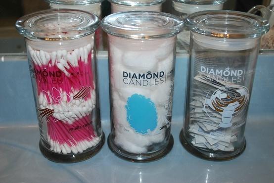 GREAT WAY TO RECYCLE THE CANDEL JARS  #LOVEisintheair #DesireTrueLove #DiamondCandles