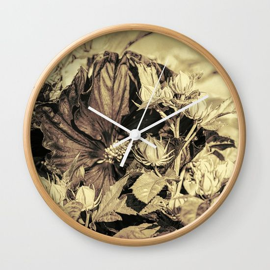 """Available in natural wood, black or white frames, our 10"""" diameter unique Wall Clocks feature a high-impact plexiglass crystal face and a backside hook for easy hanging. Choose black or white hands to match your wall clock frame and art design choice. Clock sits 1.75"""" deep and requires 1 AA battery (not included). 20% Off + Free Worldwide Shipping - Ends Tonight at Midnight PT! #sweet, #memories, #art, #sale, #tapestry, #home, #decor"""