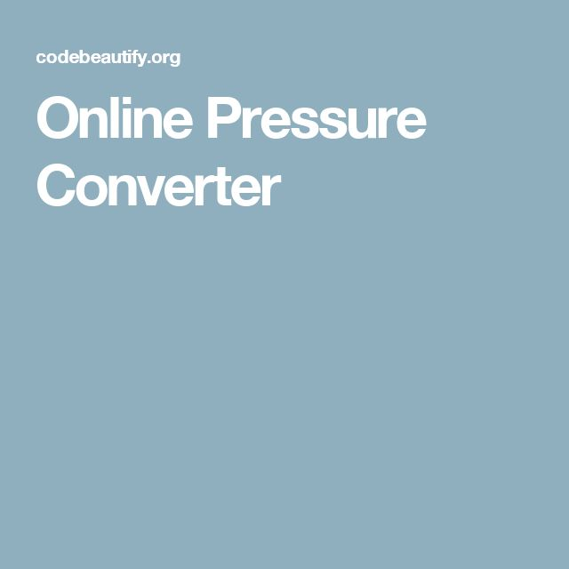 Online Pressure Converter