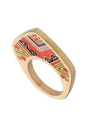 Aztec Print Band Ring