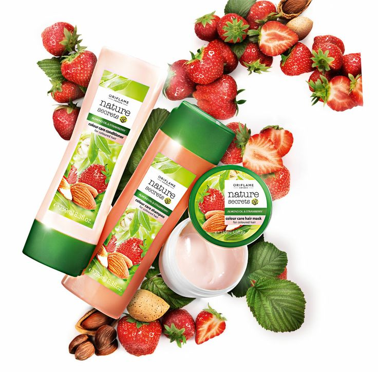 Oriflame Nature Secrets Almond Oil & Strawberry Haircare - voor gekleurd haar.