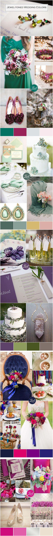 top 5 beautiful jewel tones wedding color ideas #weddingcolors
