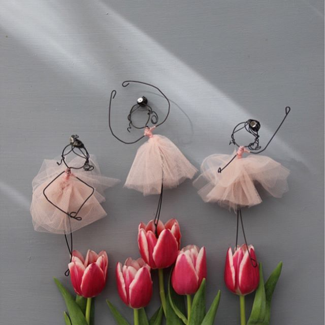 Ballerine My little poems with wire and textiles by Fili di Poesia