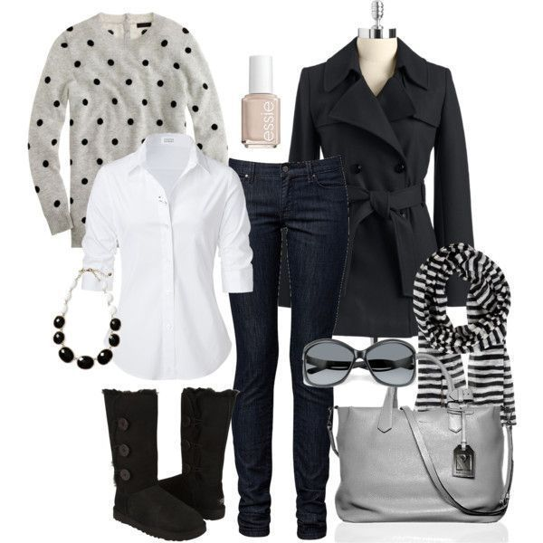 take away the hideous uggs and the pattern combo with polka dots and stripes makes a fun outfit. by bbs25 on Polyvore #uggs #boots #ugg #boots #cyberweek #cyberweek , #ugg #boots,  #UGG, #UGG, cheap ugg boots, ugg boots for cheap, FREE SHIPPING AROUND THE WORLD