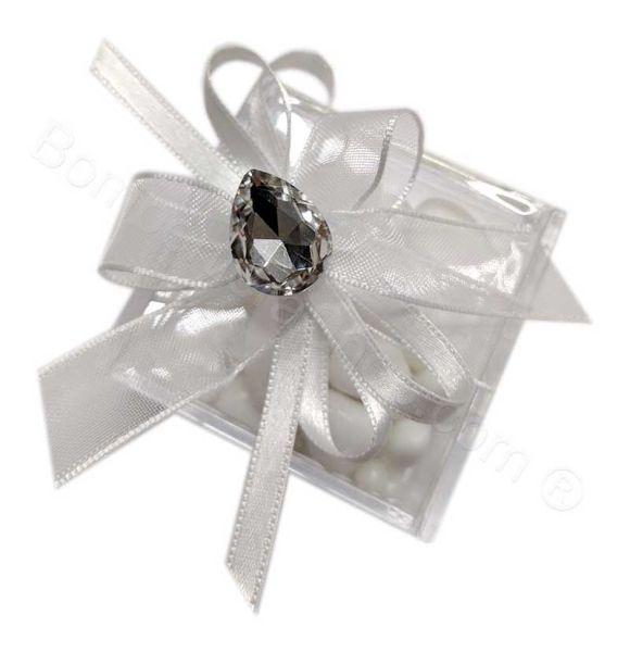 Bomboniera 60 Anniversario Matrimonio Confettata Scatolina Plexiglass