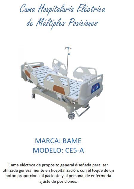 Cama Hospitalaria Eléctrica CE5-A BAME