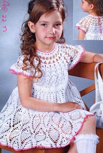 крючком платье для маленькой девочки   сделать ручной работы, вязание крючком, ремесло