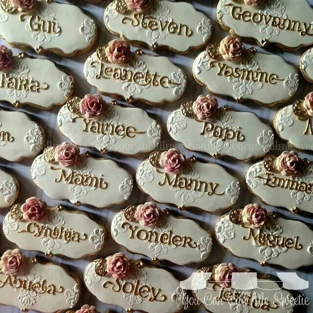 You Can Call Me Sweetie Place Card Cookies For A Wedding At Chateau In