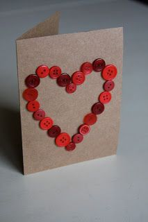 I really should be sleeping....: Button Heart Card {quick tutorial}