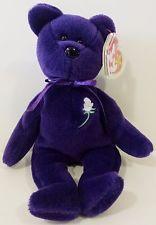 Ty Beanie Baby ~ PRINCESS (Diana) Bear RARE 1st EDITION!! 1997 PVC Pellets! MINT