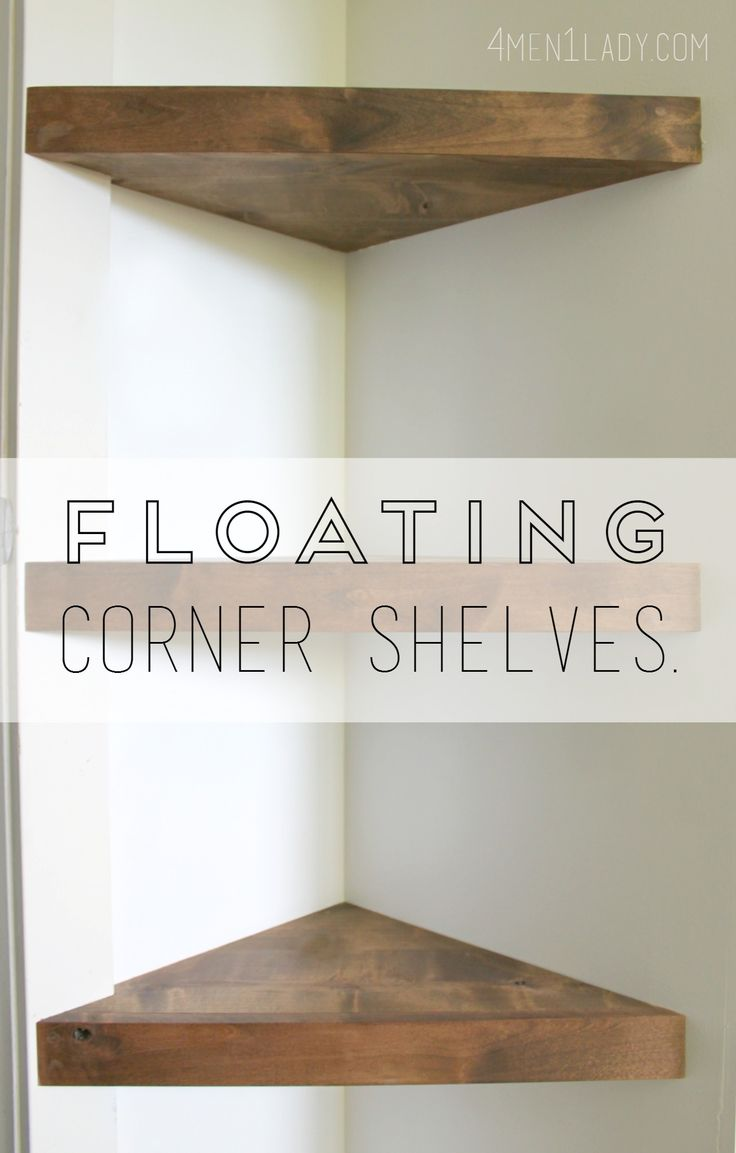 Best 25 corner wall shelves ideas on pinterest corner wall how to make corner floating shelves detailed instructions amipublicfo Gallery