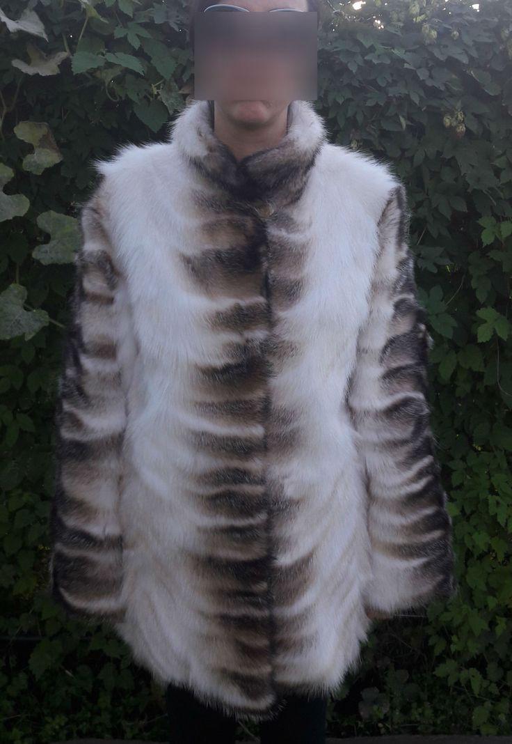 real BADGER FUR COAT-Dachs Pelzmantel-cappotto di pelliccia di tasso-mink silver fox fur coat by DamianKastorianFurs on Etsy