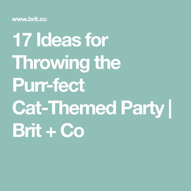 17 Ideas for Throwing the Purr-fect Cat-Themed Party | Brit + Co