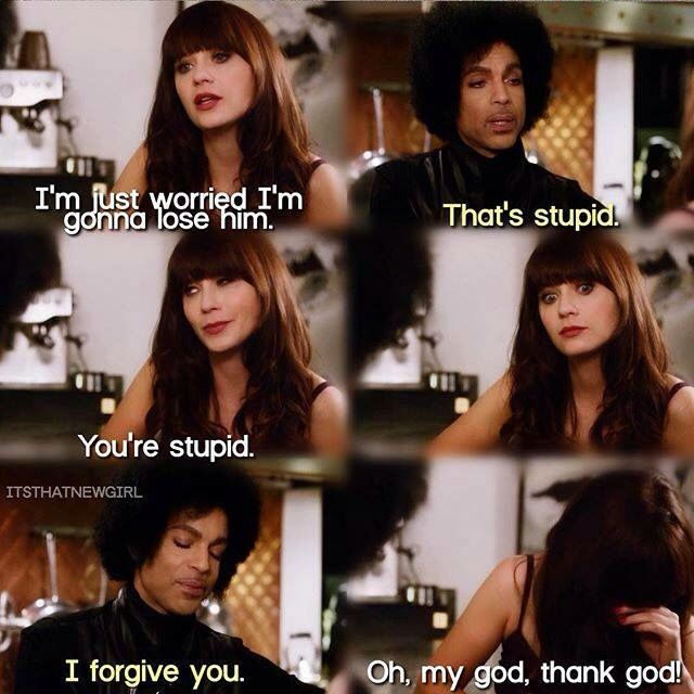 The episode of New Girl with Prince...classic.