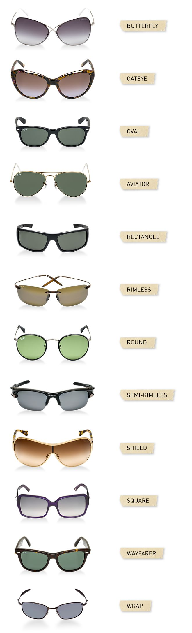 Types Of Sunglasses « Heritage Malta