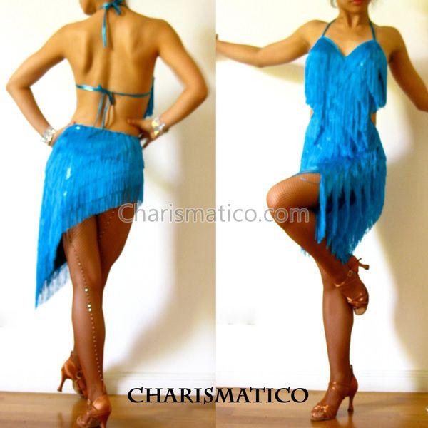 Charismatico Dancewear Store - Blue Fringe Latin DANCE BodySuit Dress, $135.00 (http://www.charismatico-dancewear.com/products/Blue-Fringe-Latin-DANCE-BodySuit-Dress.html/)