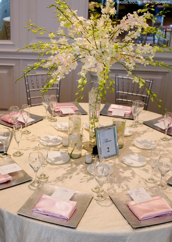 Round Table Reception Decoration Wedding Ideas