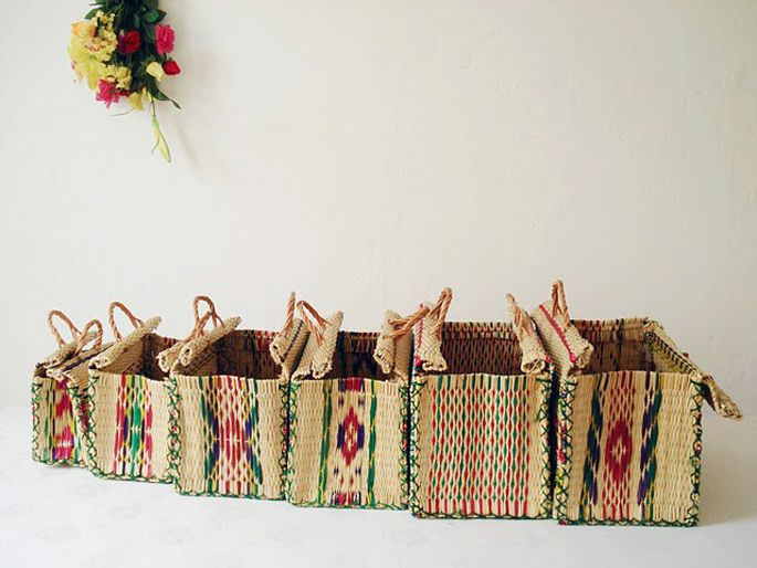 Toino Abel Baskets.  6 different sizes, from n.º 1 (ms) to n.º6 (xl).
