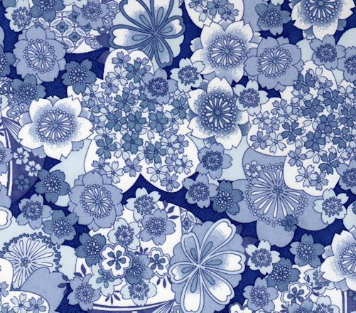 classic japanese flower icons in beautiful blue and white some design never date