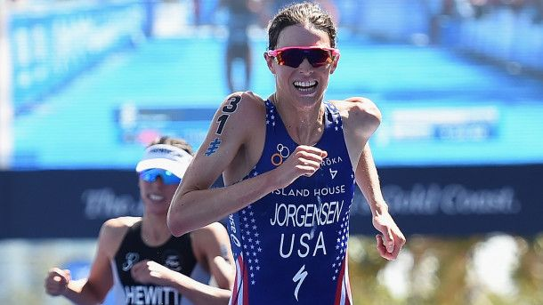 Gwen Jorgensen erases massive deficit to win Leeds triathlon