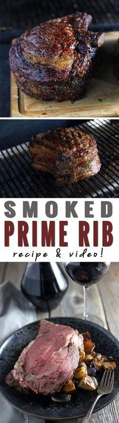How to Smoke a Prime Rib. Recipe and Video!