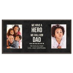 We Call Our Hero Dad Personalized Double Photo Frame