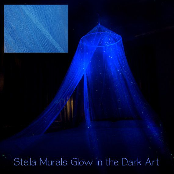 Glow In The Dark Stella Star Bed Canopy Blue Surround Your Bed With Stars Baby