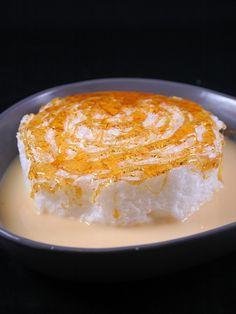 Ile flottante à la crème anglaise au micro-ondes - Marmiton (microwave! custard sauce / cream)